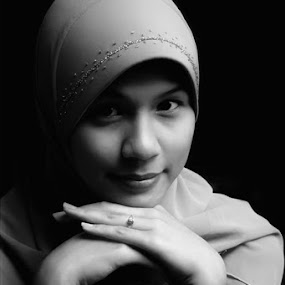 by Ayah Adit Qunyit - People High School Seniors ( pwcprofiles-dq, , woman, b&w, portrait, person )