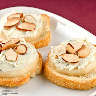 Blue Cheese, Mascarpone And Pear Bites
