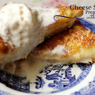 Cheese stuffed French Toast with Ice-Cream