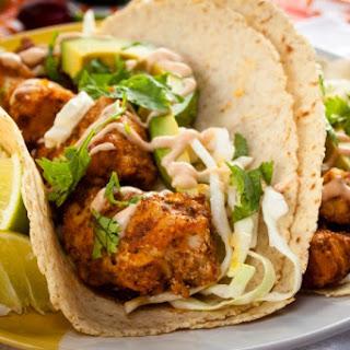 Charred Spiced Bonito Tacos.