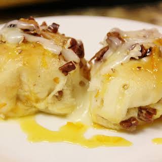 Orange Breakfast Rolls with Cream Cheese Glaze.