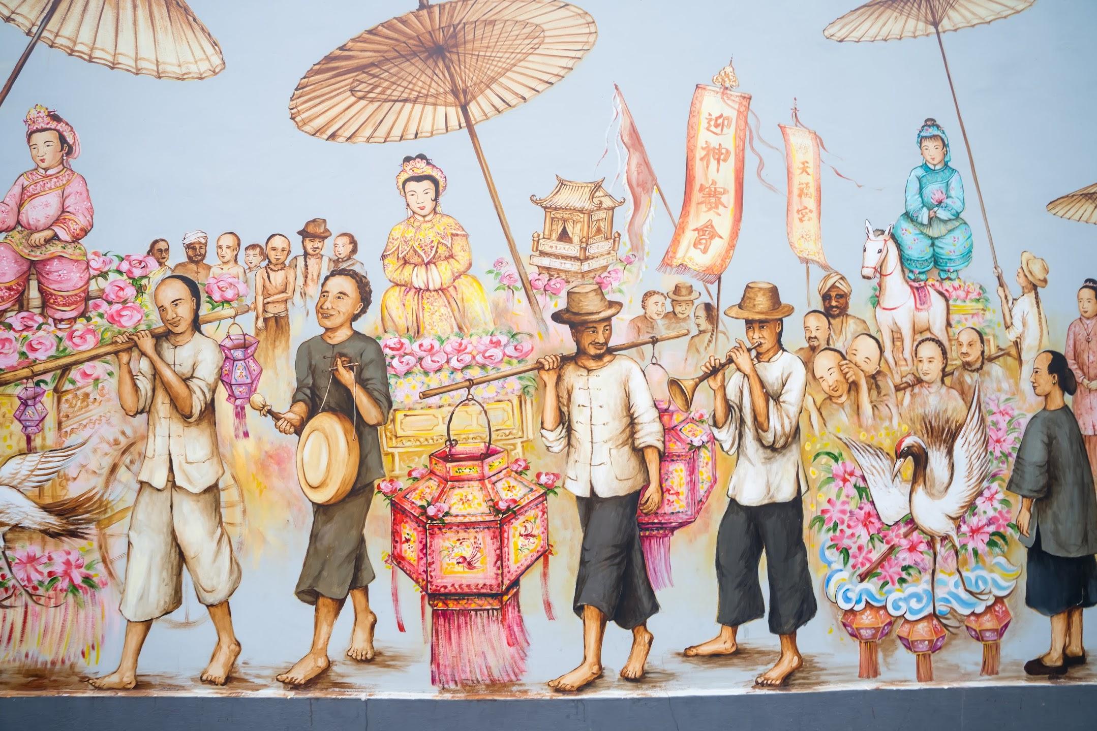 Singapore Chinatown wall art2