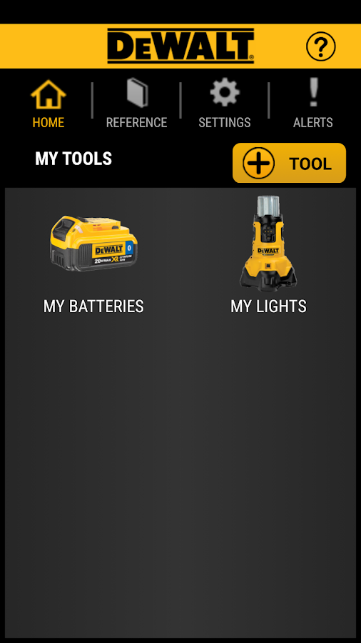 DEWALT Tool Connect- screenshot