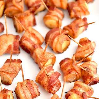 Bacon Wrapped Pineapple Bites.