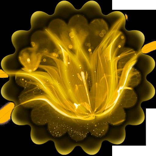 Golden Glitter Flower Theme