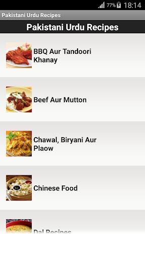 Pakistani Urdu Recipes
