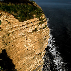 Jurassic Coast of S. Wales by Doug Faraday-Reeves - Landscapes Caves & Formations ( cliff, strata, coastal, jurassic )