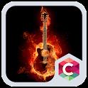 Fire Guitar CLauncher Theme HD icon