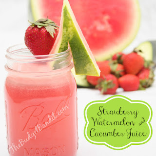Strawberry, Watermelon and Cucumber Juice