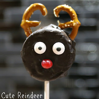 How to Make Cute Reindeer Christmas Cookie Pops