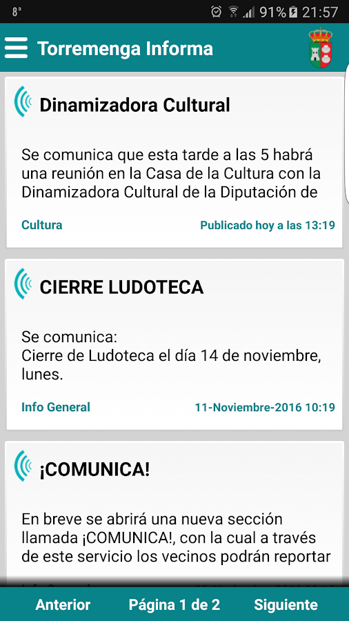 Torremenga Informa- screenshot