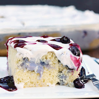 Blueberries and Cream Poke Cake