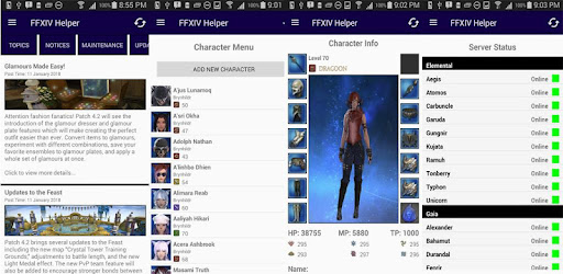 FFXIV Helper Tool - News, Server Status, Character on Windows PC