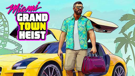 Télécharger Miami Gangster Grand Town Heist: Real Gangster 3D  APK MOD (Astuce) screenshots 1