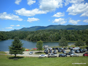 Photo: Big parking lot and day use at Waterbury Center State Park