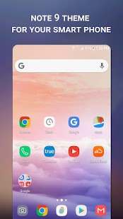 Note 9 Launcher Theme - náhled