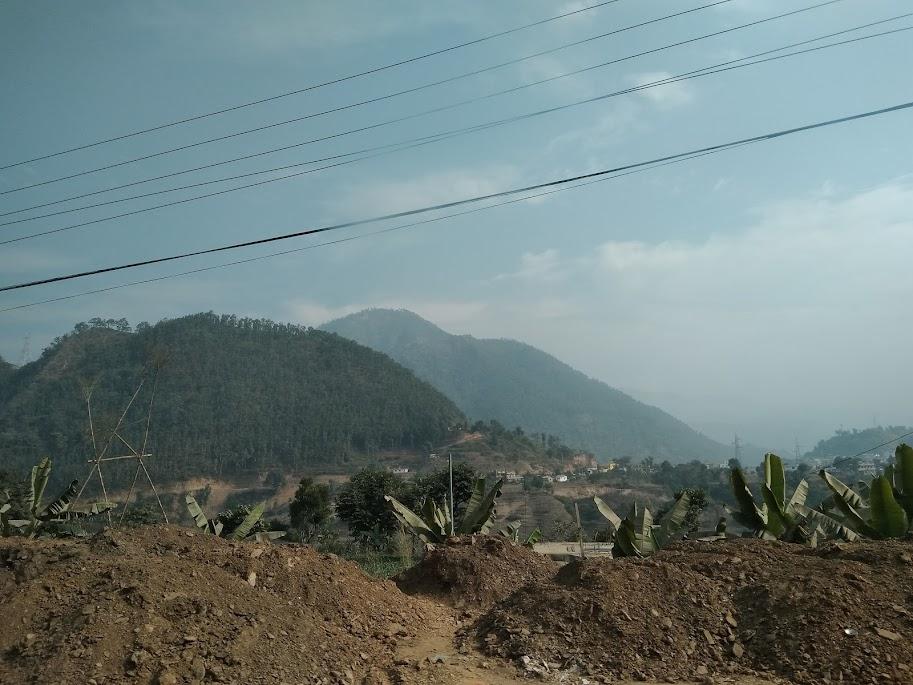 開発中の土地