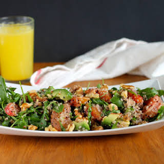 Winter Citrus Breakfast Salad With Quinoa And Toasted Walnuts.