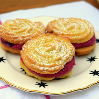 Blueberry and lemon Viennese whirls.