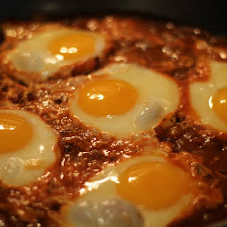 Eggs in Mexican Purgatory.