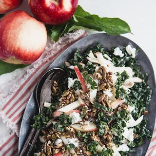SweeTango Kale Salad with Pumpkin Seed Clusters.