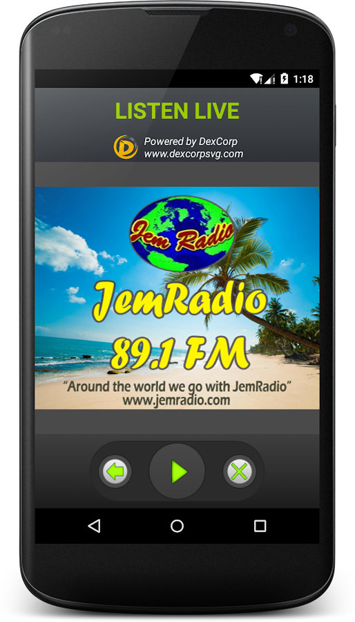 JemRadio 89.1 FM Saint Vincent- screenshot