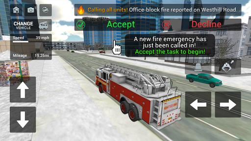 Fire Truck Rescue Simulator  screenshots 1