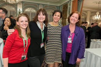 Photo: Alexa Boschini, Cindy Hodnett and Susan Dickenson (Progressive Business Media), with Cathy Steel, GLM/41 Madison party, #Ambiente14