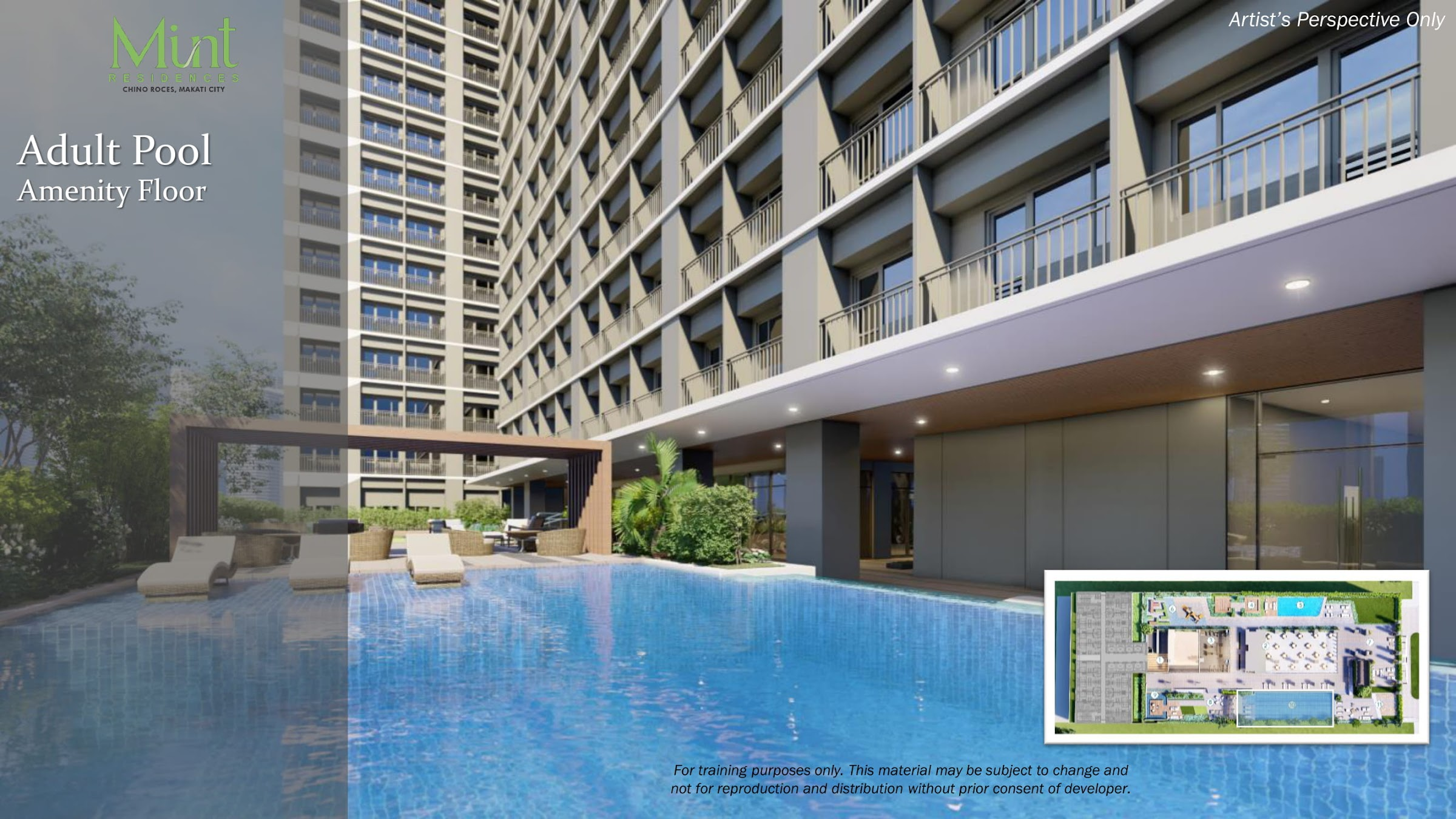 Mint Residences, Chino Roces Makati adult pool