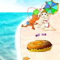 Beach!Donut Boy and Girl LW icon