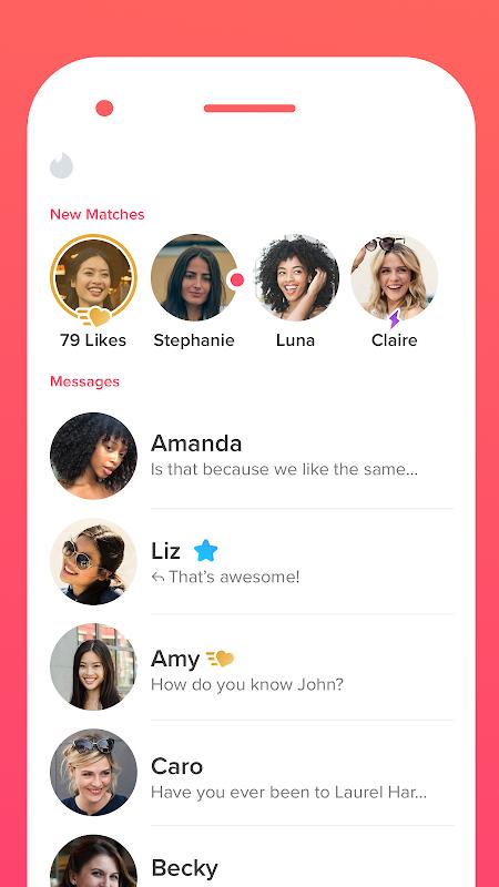 Tinder screenshots