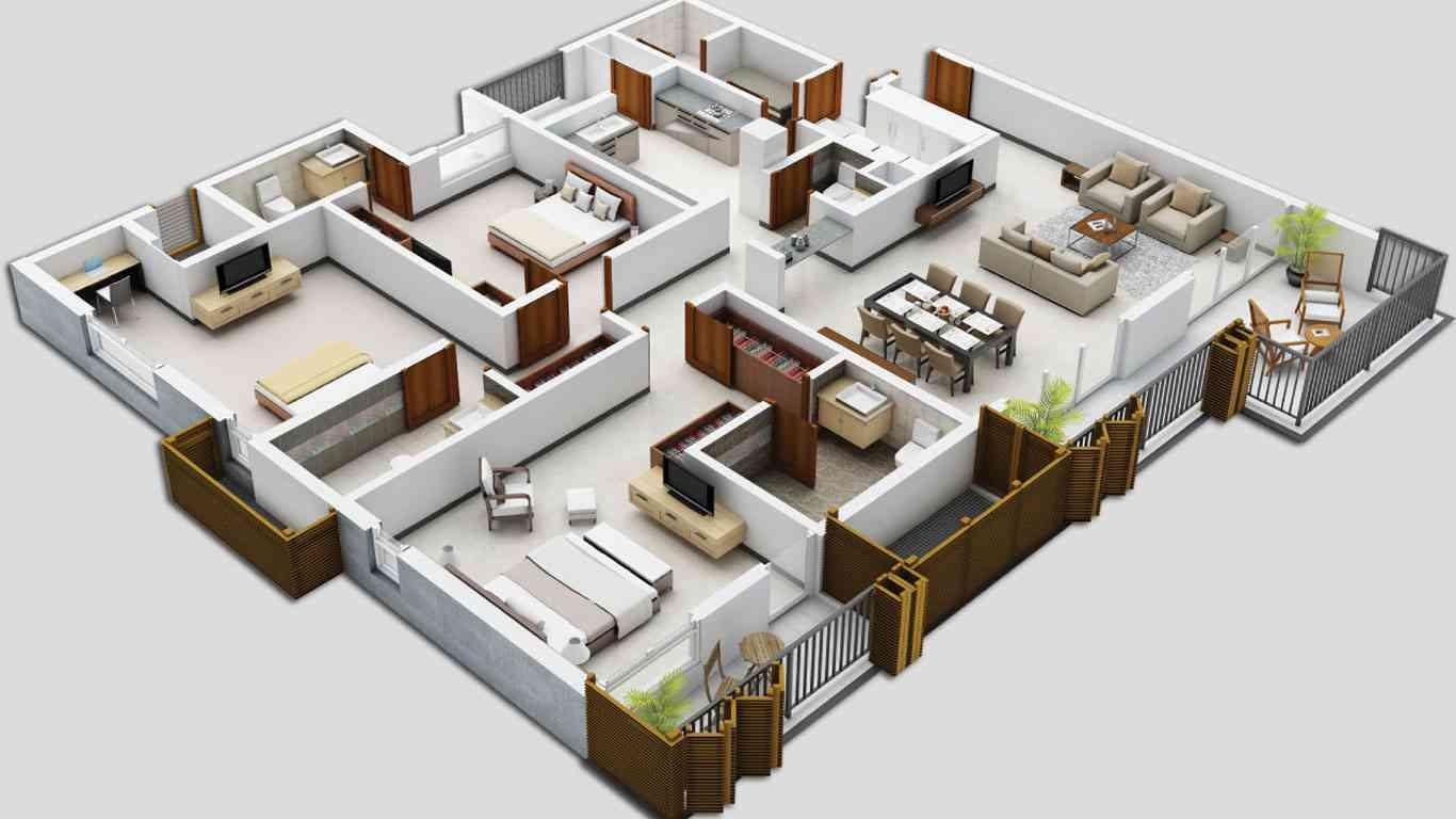 Simple 2 bedroom home plans - 3d Haus Grundriss Ideen Android Apps Auf Google Play