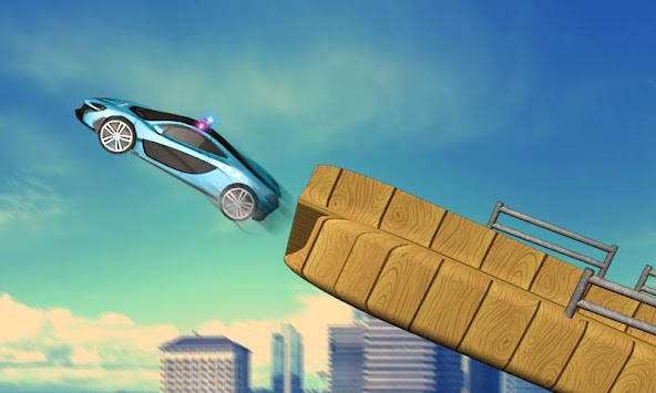 Us Police Mega Ramp Car Stunts