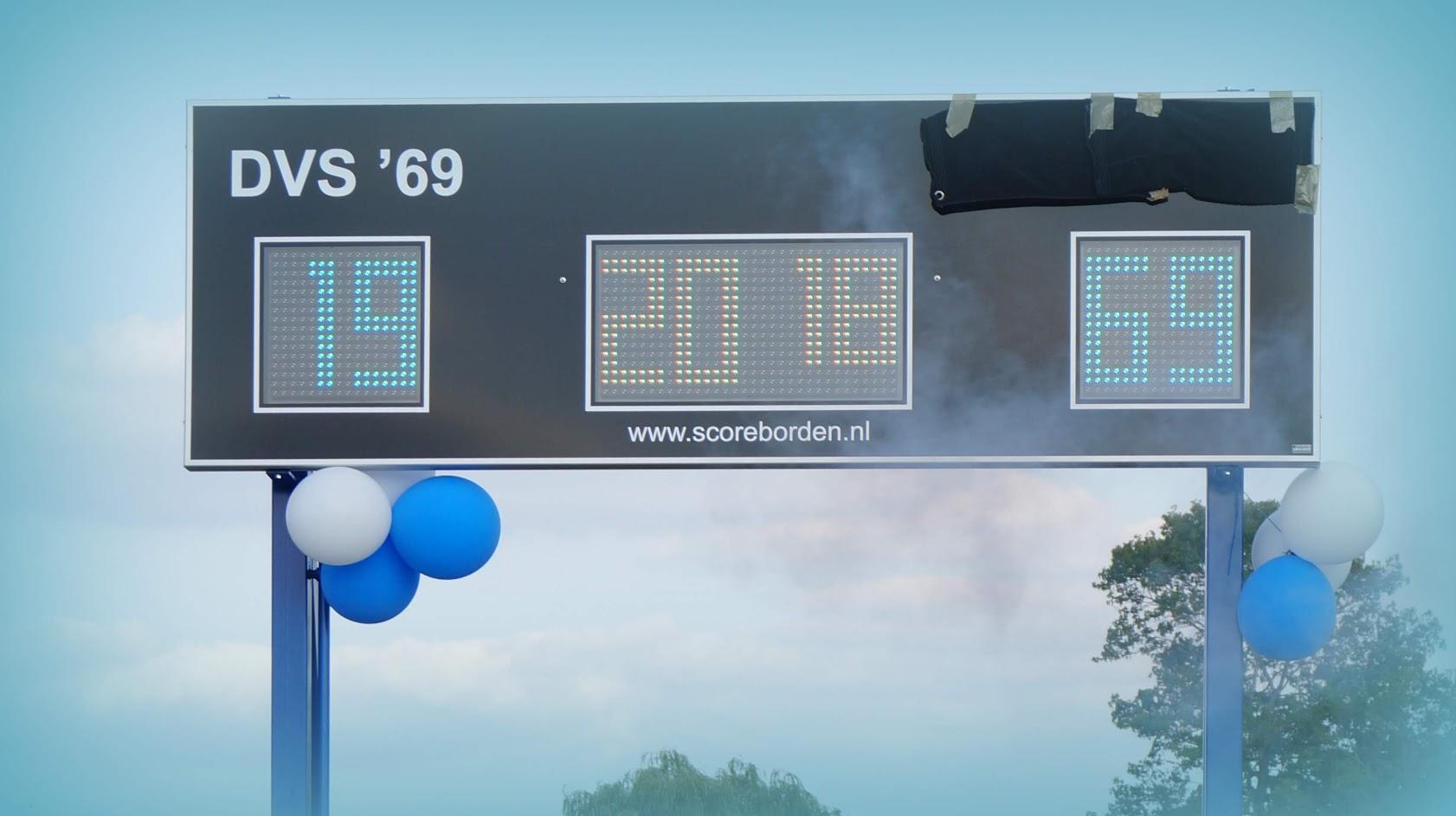 Nieuwe scorebord werd onthuld