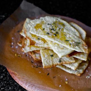 Crisp Flatbreads with Honey, Thyme and Sea Salt.