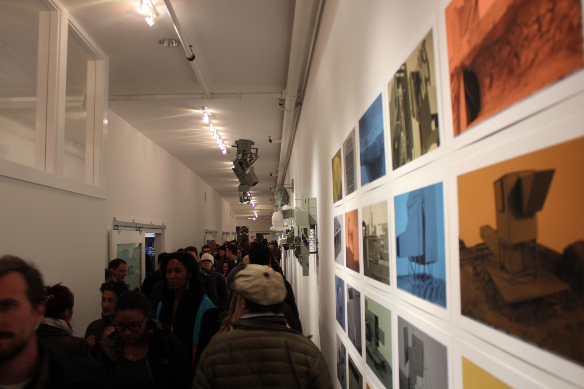 Photo: All 10 art galleries and mixed use spaces on 25th Street were this packed the night of April 6, 2012.