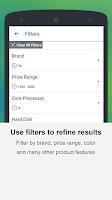 Screenshot of Pricena Shopping Comparison