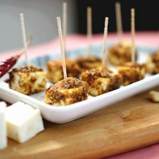 Spicy Paneer Cubes In Roasted Peanut Masala