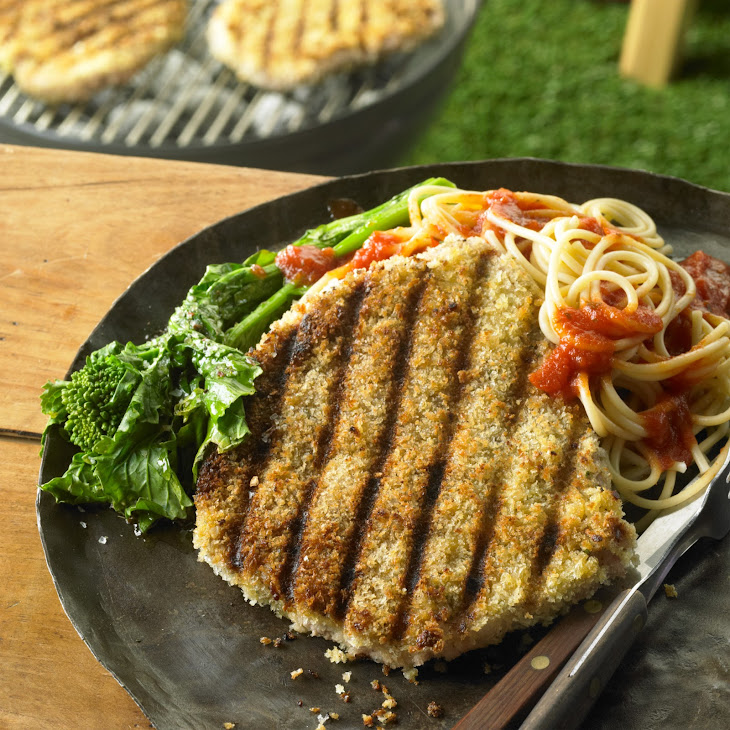 Grilled Pork Parmesan