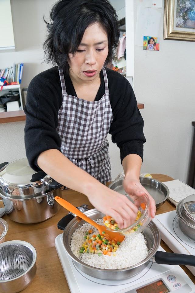 黒千石レシピ クリスマス特別編・エビピラフ・作り方