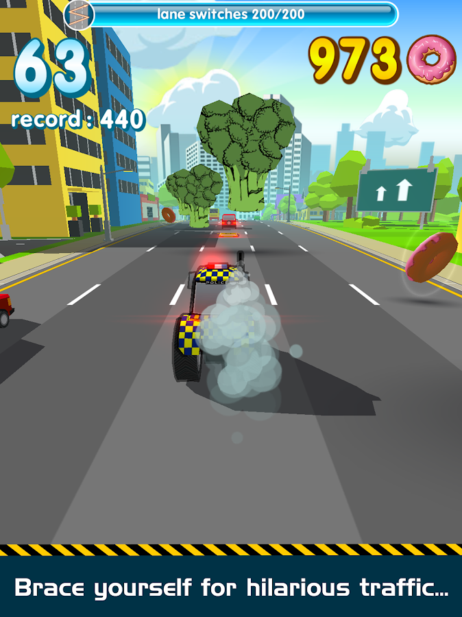 Crazy Road Cops 🚔 Race for Donuts- screenshot