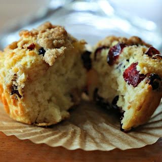 Cranberry Muffins with Brown Sugar Streusel