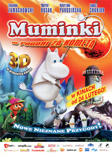 Przód ulotki filmu 'Muminki W Pogoni Za Kometą'