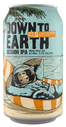 Logo of 21st Amendment Down To Earth