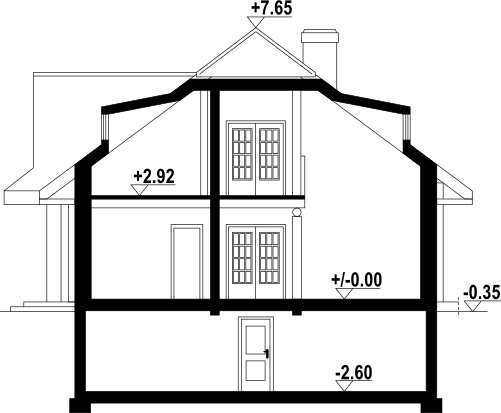Chmielniki 41 dw - Przekrój