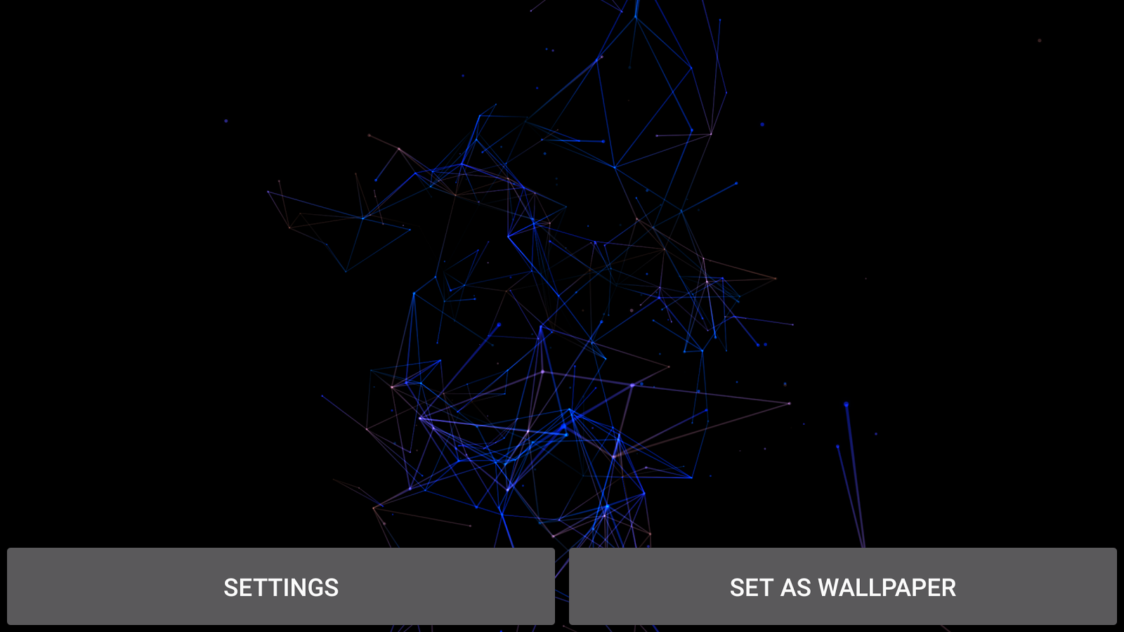 Particles Plexus 3D Wallpaper- screenshot