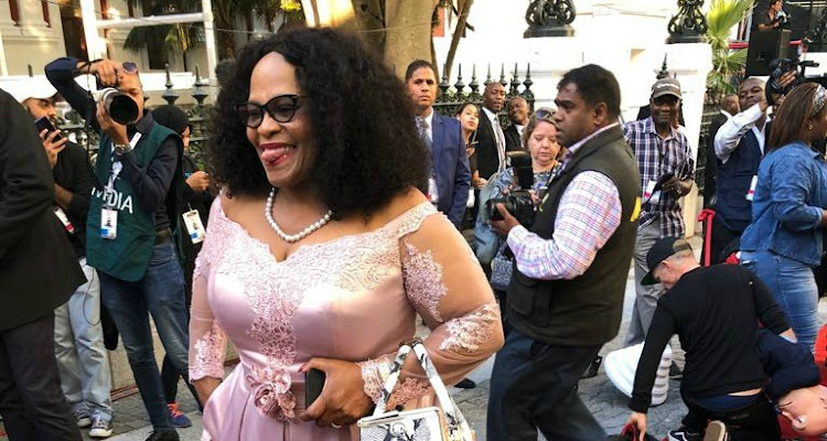 Nomvula Mokonyane on the red carpet ahead of SONA 2018 in Cape Town.