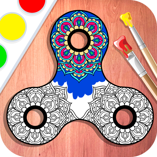 Color Fidget Spinner - Zen Mandala Book