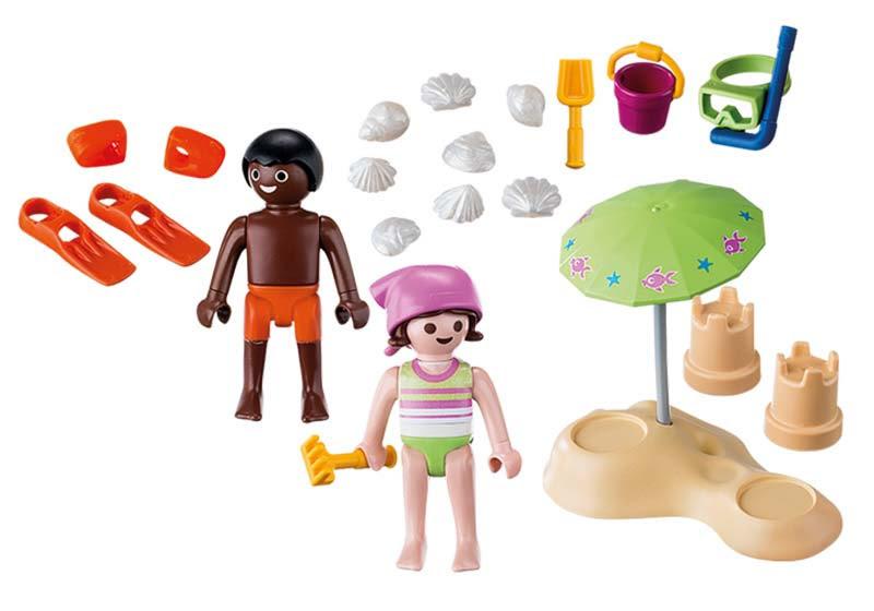 Contenido Real de Playmobil® 9085 Niños en la Playa
