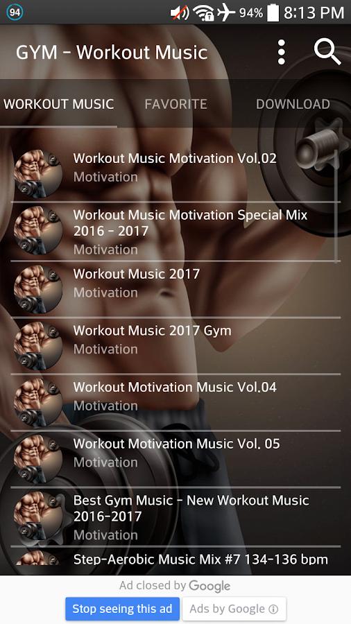 Workout Music 2017 Screenshot
